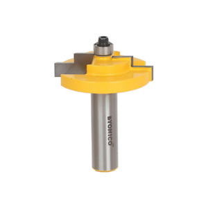 Stepped Rabbet 3 16 In. Glass 1 2 In. Shank Carbide Tipped Router Bit
