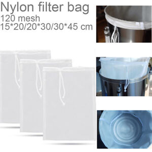 Fine Mesh Nylon Food Strainer Bag Cheese Nut Milk Coffee Juice Filter Bag Hot