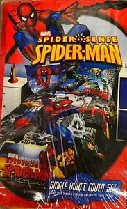 Ultimate Spider-Man Spider Sense Single Duvet Cover Set Marvel Comics New 89614