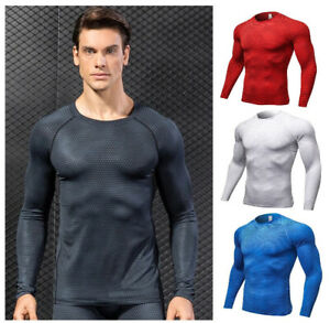 Running Shirts Men 2020 New Long Sleeve Breathable Gym Wear Fitness Workout Tops $22.31