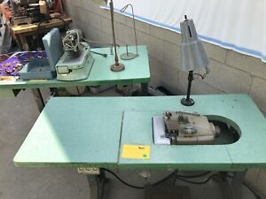 Industrial Hemming Overlock and Buttonhole Sewing Machines with Tables Used $296.00