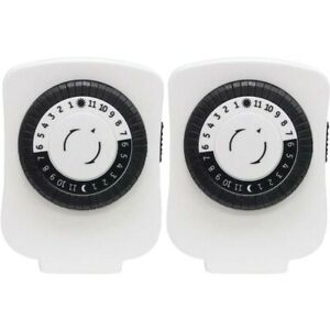 GE 15417 24-Hour Polarized Plug-in Mechanical Timer with 48 On/off