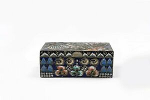 Antique Russian Faberge silver cloisonne shaded enamel box by Feodor Ruckert