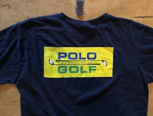 RARE! Early 90s SINGLE STITCH Polo Sport T Shirt Vtg Ralph Lauren Spell Out 92 $33.99