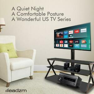 3-in-1 Floor TV Stand with Swivel Mount for 32-65 inch LED LCD Flat Screen TVs