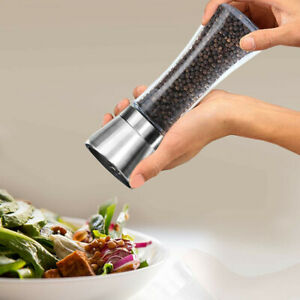 Stainless Steel Adjustable Salt / Pepper Grinder Mill Salt Grinder Bottol 1 Pcs