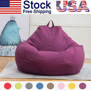 Extra Large Bean Bag Chair Sofa Cover Indoor Outdoor Game Seat Couch Lazy Bags