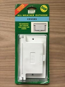 BWF All Weather Outdoor Cover Horizontal GFCI Cover White