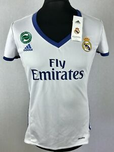 Real Madrid 2016 2017 ADIDAS Home Football Shirt Womens Size L 14 16 Jersey NWT $33.91