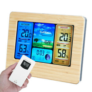 In/Outdoor Digital LCD Wireless  Weather Station Calendar Thermometer Clock USA