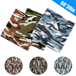 HOT 100% Cotton Poplin Camouflage Army Camo Print Fabric Quilting Sewing 1 Yard $10.48