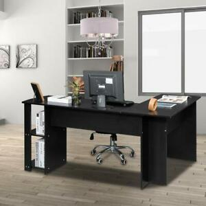 Corner Computer Desk Rotating L Shape Gaming Study PC Table Home Furniture FCH