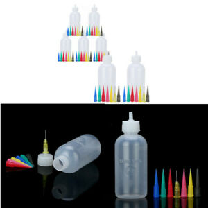 Jam Painting Squeeze Bottles W Nozzles DIY Craft Frosting Sauce Cake Pastry Tool