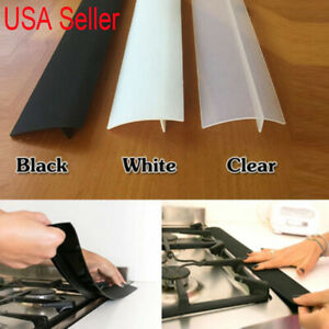 US Silicone Kitchen Stove Counter Gap Cover Oven Guard Spill Seal Slit Filler