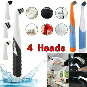 Super Sonic Scrubber With 4 Heads Electric Household All Purpose Cleaning Brush
