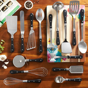 Pioneer Woman 15-Piece Kitchen Cooking Utensil Tool and Gadget Set, black - NEW!