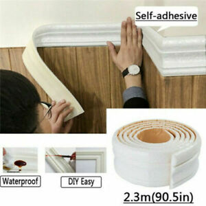 7.5FT Waterproof 3D Wall Border Wall Paper Decor Sticker Self-adhesive Kitchen