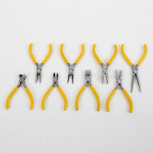 Lots 8Pcs Set Long Flat Nose Jewelery Watch Repair Pliers Tools DIY Wire Cutters