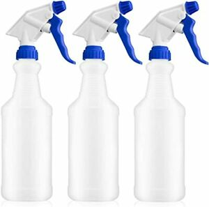 4-PK Professional Spray Bottles with Trigger 32 oz Heavy Duty Chemical Resistant