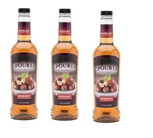 Upouria Hazelnut Flavored 100% Vegan Syrup 750ml bottle Pack of 3 $28.99