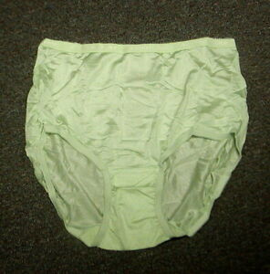 Vintg New Woman Within Comfort Choice Full Brief Nylon Panty Apple Green Sz 14