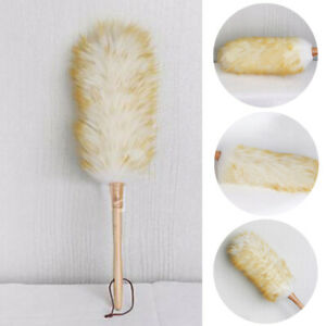 Lambswool Duster Super Soft Feather Cleaning Natural Telesopic Extending Handle