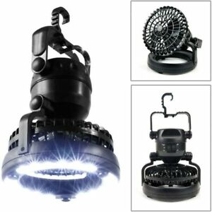 2 in 1 Portable 18 LED Tent Camping Light with Ceiling Fan Hiking Outdoor Latern