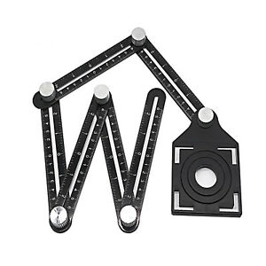 Ceramic Wall Tile Glass Hole Saw Cutter Guide Adjustable Opening Locator Tool