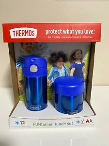 THERMOS FUNTAINER LUNCH SET STAINLESS STEEL BLUE