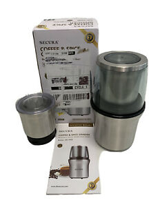 Secura  Coffee & Spice Grinder With 2 Stainless Steel Blades New SP-7412