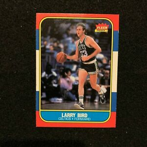 1986 87 Fleer #9 Larry Bird Boston Celtics NBA Basketball HOF Star NMT MINT