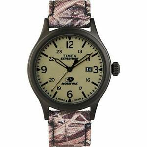 Timex Men's Expedition Scout 40mm Analog Quartz Leather Strap Camouflage 20 C...