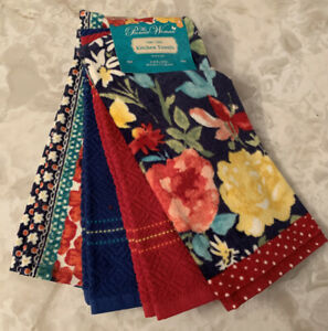 New The Pioneer Woman Fiona Floral Kitchen Towel Set of 4