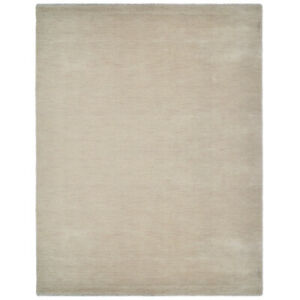 Hand Knotted Wool 3'x5' Area Rug Solid Beige BBH Homes BBL00111