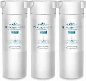 3 Pack GLACIER FRESH GF-XWF Refrigerator Water Filter Replacement for GE XWF