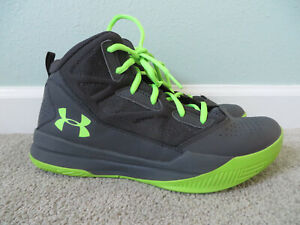 Under Armour Boy's PS Jet Mid Basketball Sneakers Shoes Gray Size youth 6.5 $22.70