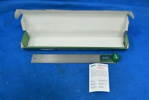 INSIZE 463C69 Digital Protractor 0° to 360° 12quot; Length $40.00