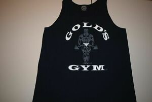 Gold's Golds Gym Tank Top Shirt Men's Large Black NO CITY $26.00