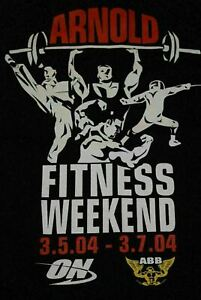 2004 Arnold Schwarzenegger Fitness Weekend t shirt Men's XL gold's golds gym $9.00