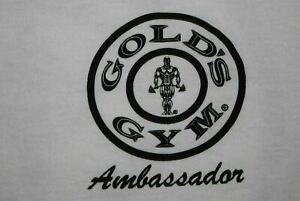 Gold's Golds Gym AMBASSADOR Austin Texas t shirt Men's Medium White $6.00