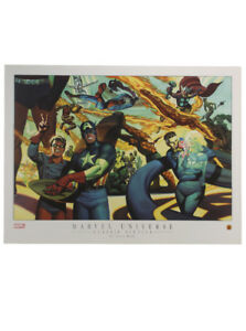 Marvel Universe Classic Sixties Lithograph Art by Steve Rude Spider-Man Hulk $24.95