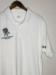 12 2 Mens Under Armour Heatgear Wounded Warrior Project Polo Golf Shirt Size LG $4.00