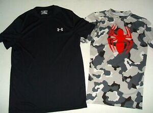 Under Armour Shirt Lot Men's M Marvel Spiderman Camouflage Compression $21.99