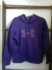 UNDER ARMOUR Women's Large Hoodie Purple Semi fitted EUC $24.99