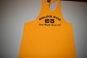 Gold's Golds Gym BUFF Tank Top Shirt Usa Made N. Myrtle Beach South Carolina XL $75.00