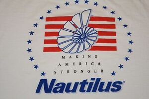 vtg 90s Nautilus Making America Stronger t shirt Cotton XL XXL gold's golds gym $46.00