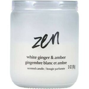 Zen White Ginger and Amber 3 0z Candle