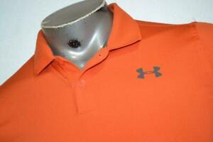 10790 a Kids Boys Under Armour Golf Polo Shirt Size Youth XL Orange $17.79