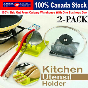 Heat Resistant Silicone Spoon Rest Cooking Utensil Spatula Holder Kitchen Tools
