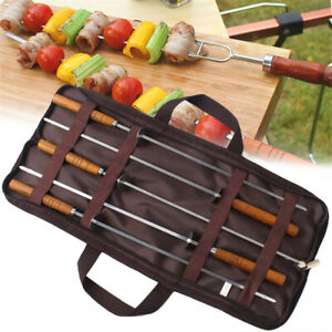 Stainless Steel Marshmallow Roasting Sticks with Wooden Handle 16 Inch BBQ Fork
